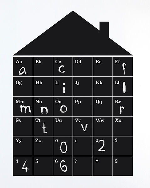 Gro�er Wallsticker von Ferm Living ABC House