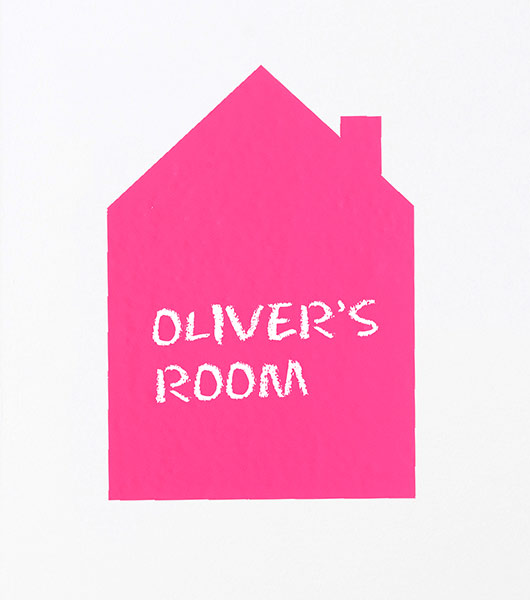 Wallsticker von Ferm Living Pink House