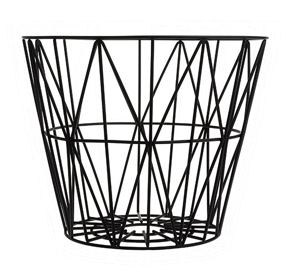 Design Metallkorb von Ferm Living Black Medium