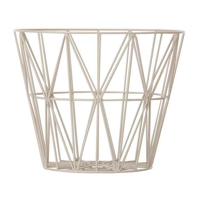 Design Metallkorb von Ferm Living Grey Medium