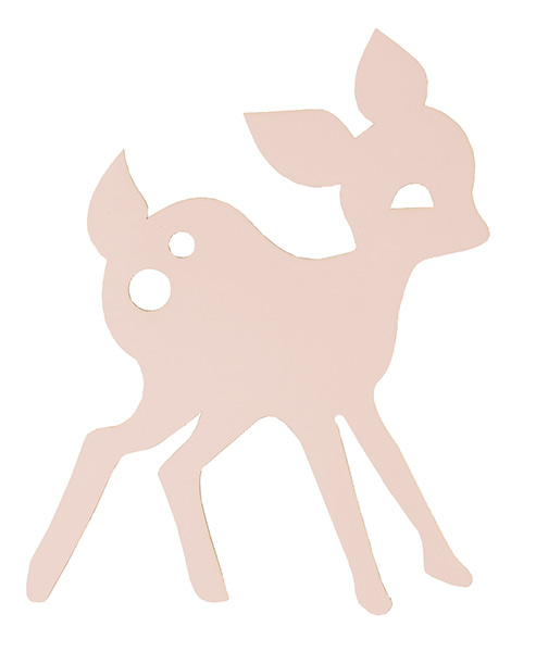 Wandlampe f�r Kinder von Ferm Living Deer Lamp rose