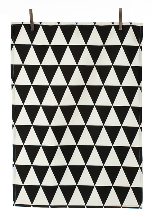 Mountain Tea Towel Geschirrtuch von Ferm Living black