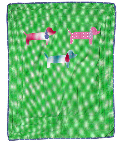Rice Baby Kindertagesdecke Doggy green 90 x 70cm
