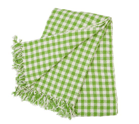 Rice Tagesdecke �berwurf Gingham green