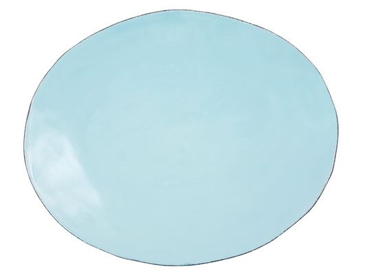 Rice Italian Tableware medium Servierplatte hellblau