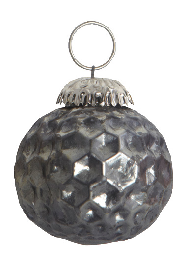 House Doctor Weihnachtskugel Diamond grau