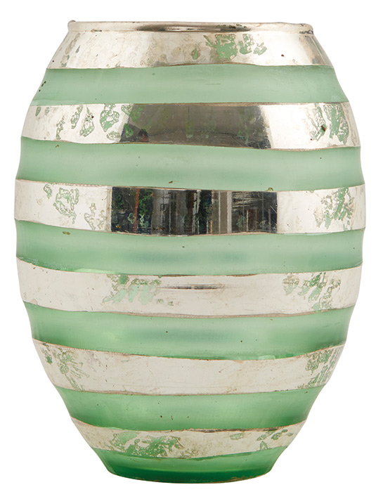 House Doctor Vase Green Silver Lines