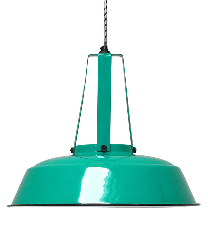 HK Living Industrielampe L Jade green