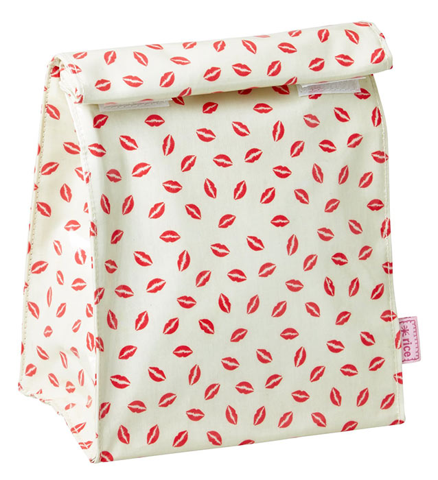 Rice Lunchbag mit Kiss Print