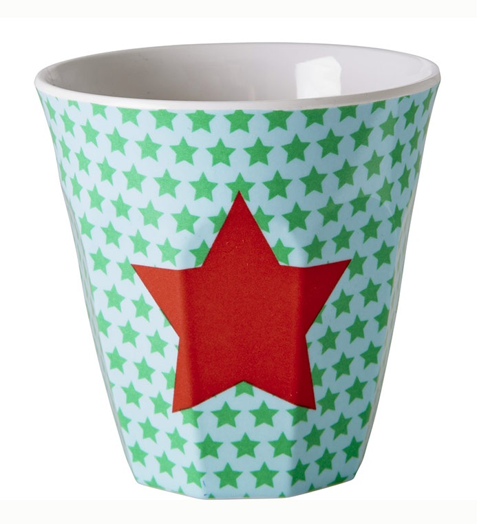 Rice Becher aus Melamin f�r Kinder Star green