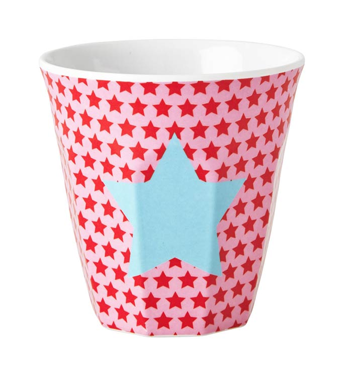 Rice Becher aus Melamin f�r Kinder Star red