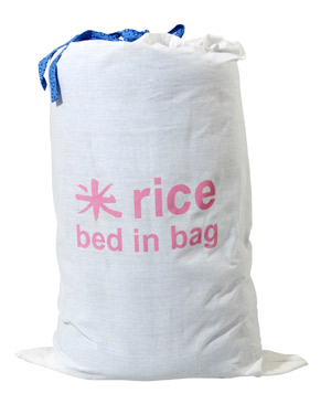 Rice Bed in Bag Matratze Marrakesh blue 195 x 60 cm