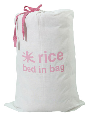 Rice Bed in Bag Matratze Marrakesh red 195 x 60 cm