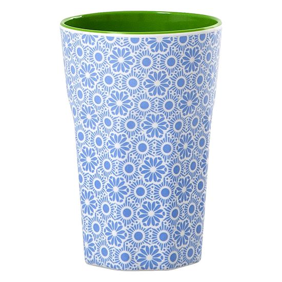 Rice Becher Latte Cup Melamin Marrakesch blue