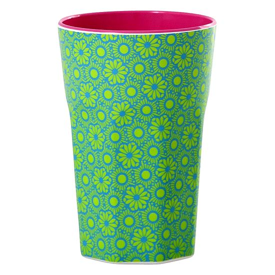 Rice Becher Latte Cup Melamin Marrakesch Print green