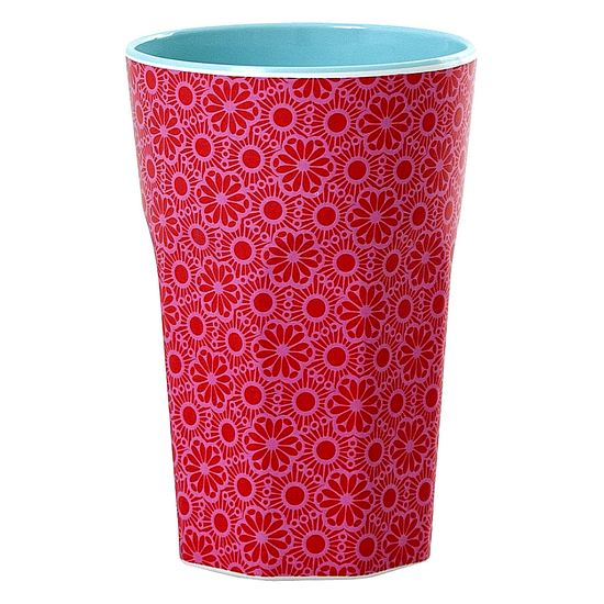 Rice Becher Latte Cup Melamin Marrakesch red