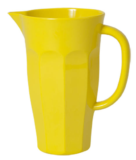 Rice Pitcher Krug Melamin gelb 1L