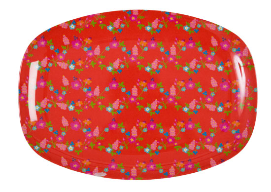 Rice Tablett Celebration red flower
