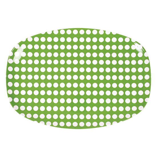 Rice Tablett green dots