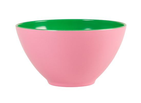 Rice gro�e Sch�ssel Melamin Two Tone pink-green