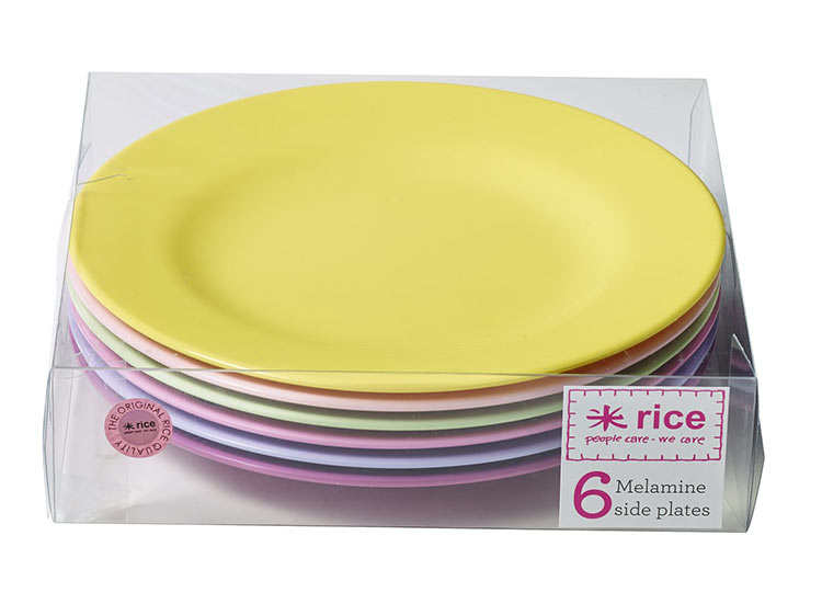 Rice Tellerset 6 Girly Colours Teller Melamin 20cm