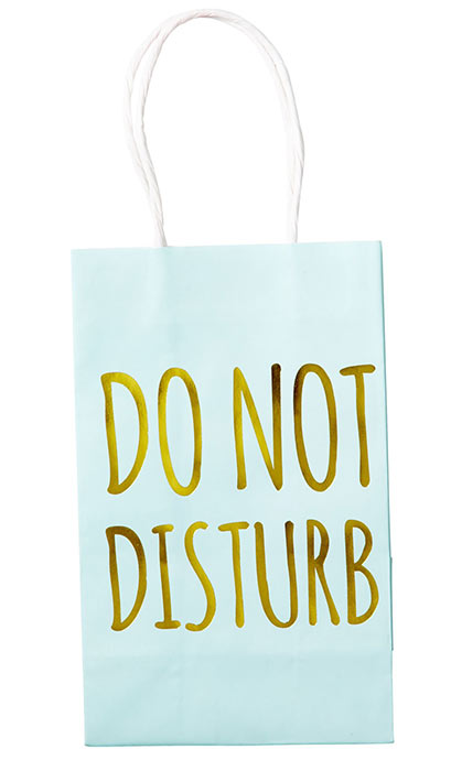 Rice Geschenktüte Print Do not disturb