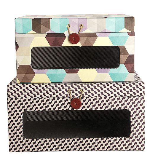 House Doctor Boxenset Geometric Closed 2-teilig