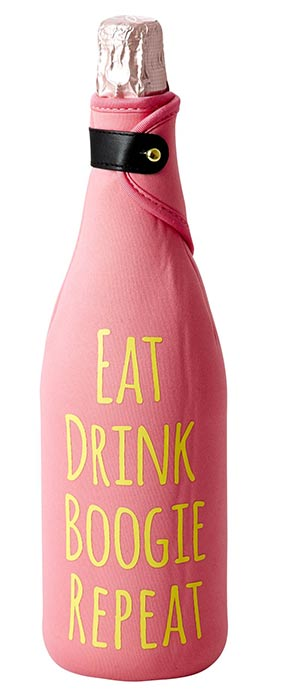 Rice Neopren Flaschen-K�hler pink Eat Drink...