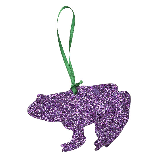 Rice Christmas Glitter Anh�nger Frosch