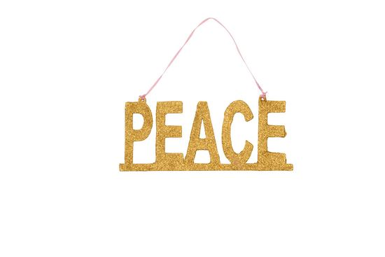 Rice Christmas Glitter Anh�nger Peace