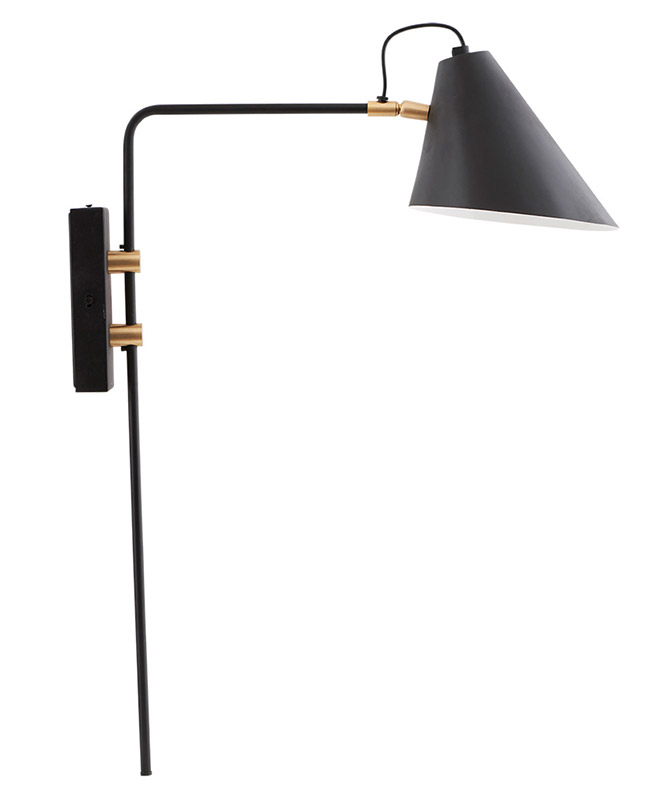 House Doctor Design Wandlampe schwarz