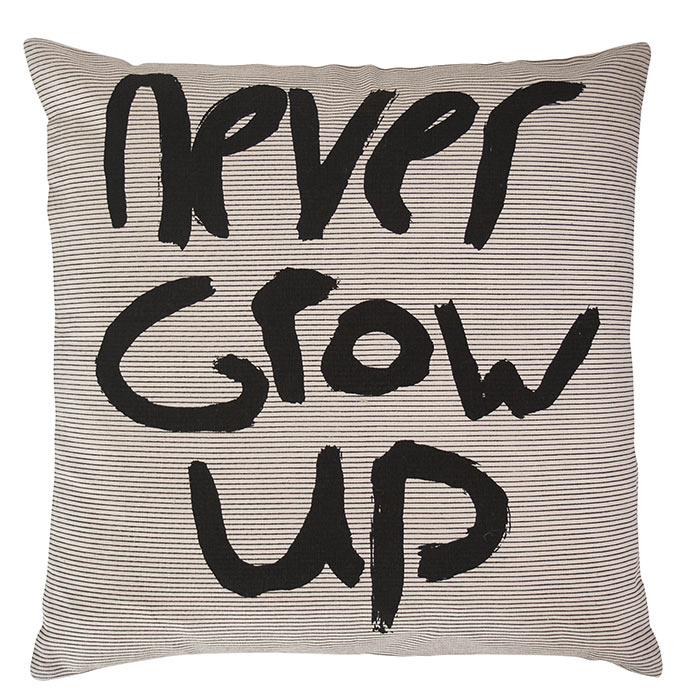HKLiving Kissen Never grow up 50x50cm