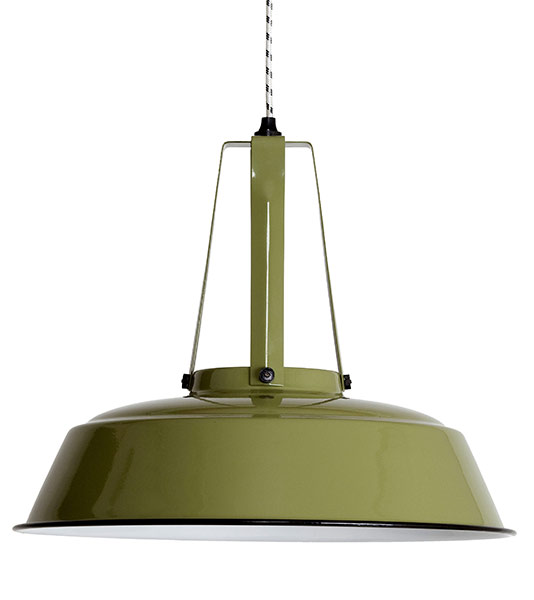 HK Living Industrielampe L army green
