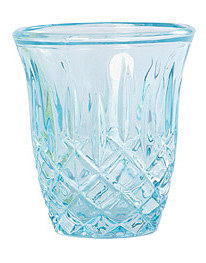 House Doctor Glas Windlicht blau