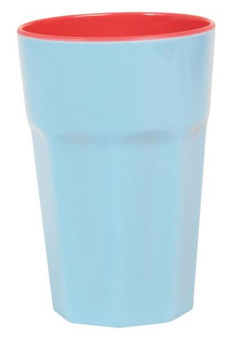 Rice Becher Two Tone Latte Cup Melamin hellblau