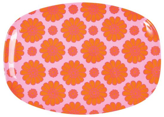 Rice Tablett Celebration orange Flower
