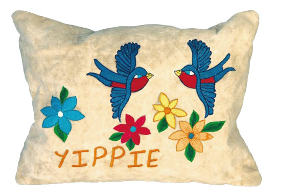 Kissenh�lle Taj Wood & Scherer Yippie Bird dirtywhite 30x40cm